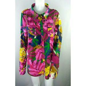 BCBG Max Azria Blouse Colorful